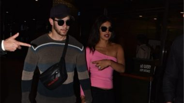 Priyanka Chopra and Nick Jonas Spotted Walking Hand in Hand at Mumbai Airport (View Pics and Video)