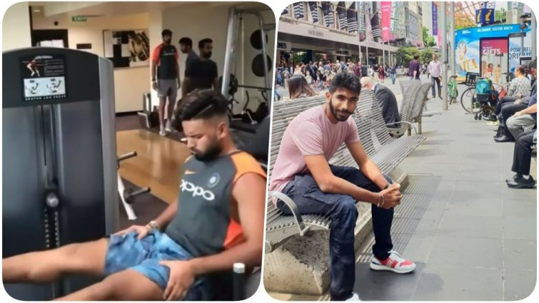 Rishabh Pant, Ishant Sharma, Ajinkya Rahane & Others Sweat it out in the Gym; Jasprit Bumrah Strolls on the Streets of Melbourne Ahead of the Boxing Day Test (See Pics & Video)