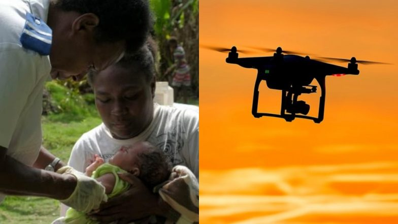 One-Month-Old Baby Gets Vaccine Delivered on a Drone in Vanuatu, Island on South Pacific