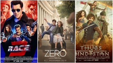 Shah Rukh Khan's Zero Fails To Beat the Opening Day Box Office Collection of Aamir Khan's Thugs of Hindostan and Salman Khan's Race 3