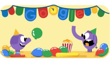 New Year's Eve Celebrated With Colorful Party Doodle by Google on 31st December 2018 to Ring in Happy New Year 2019