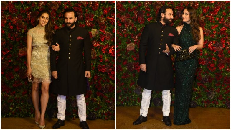 Deepika Padukone-Ranveer Singh Wedding Reception: The Curious Case of Saif Ali Khan and His Double-Entrance With Kareena Kapoor and Sara Ali Khan - Watch Video