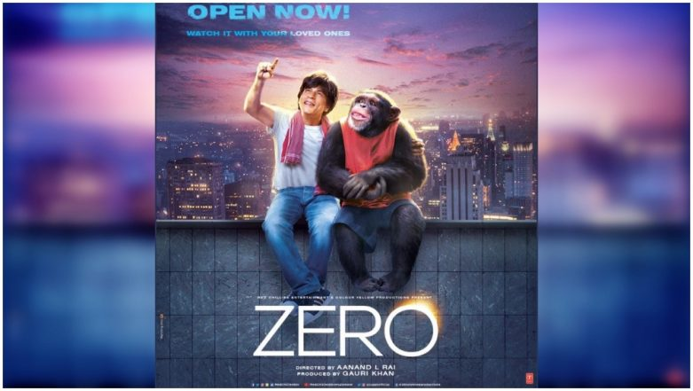 Zero: Shah Rukh Khan's Bauua Singh Sitting On a Ledge With a Chimp is the Most WTF Poster of the Year!