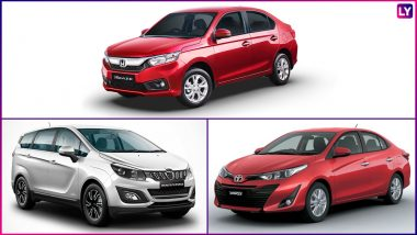 Honda Amaze, Mahindra Marazzo & Toyota Yaris: Top 3 Most Searched Cars Online During 2018 in India