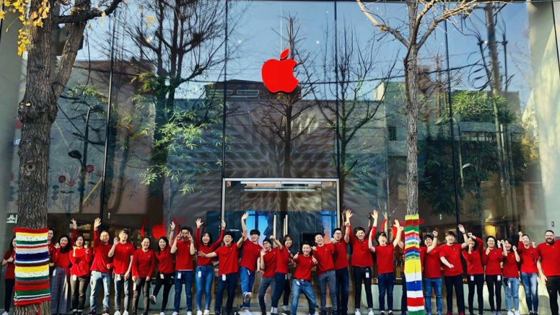 World AIDS Day 2018: Apple Logo in Stores Turned RED Worldwide to Participate in Fight Against AIDS