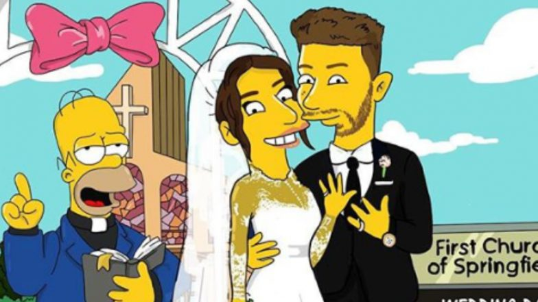 Priyanka Chopra and Nick Jonas' Wedding in The Simpsons' World! This Artwork Is Going Viral on Instagram