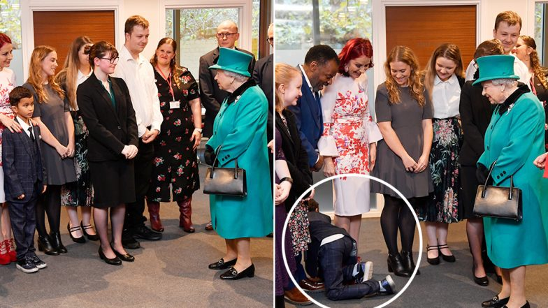 Boy Crawls Out of Room on Meeting Queen at Charity Coram in London (Watch Video)