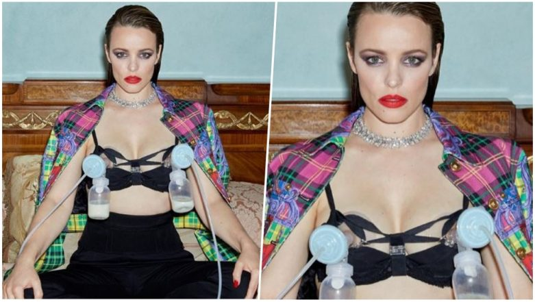 Rachel McAdams Looks Badass Wearing Breast Pumps With Versace and Bulgari Diamonds In a Magazine Cover Shoot (View Pic)