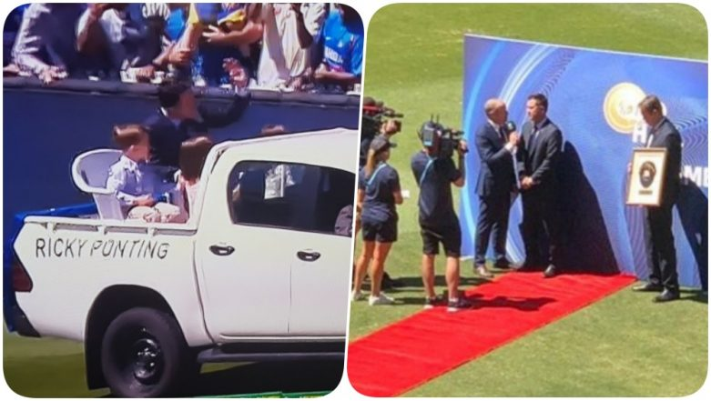 Ricky Ponting Inducted into ICC Hall of Fame (See Pic & Video)