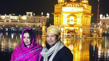 Sachin Tendulkar and Wife Anjali Offer Prayers at Golden Temple in Amritsar, See Pics