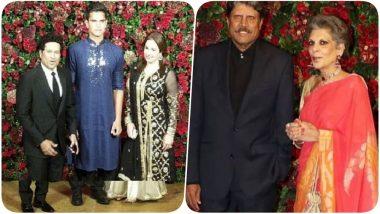 Anjali, Arjun & Sachin Tendulkar and Kapil Dev Grace Deepika Padukone - Ranveer Singh Wedding Reception in Mumbai (See Pics)