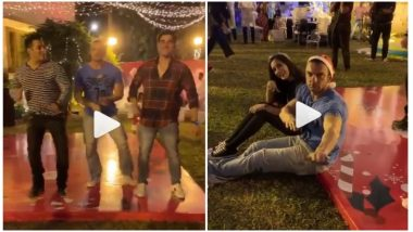 Salman Khan Dancing Stylishly With Brothers Arbaaz Khan and Sohail Khan At His Christmas 2018 Party is So Cool! (Watch Video)