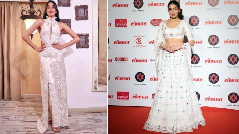 Lokmat Most Stylish Awards 2018: Sara Ali Khan or Janhvi Kapoor - Whose 'Vision In White' Impressed You More? View Pics