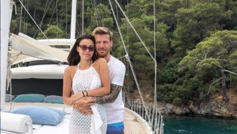 Turkish Footballer, Serdar Aziz, Caught Holidaying With Wife After Faking Stomach Ache