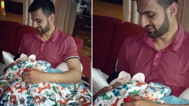 Papa Shoaib Shares an Adorable Moment With Baby Izhaan Mirza Malik (See Pic)