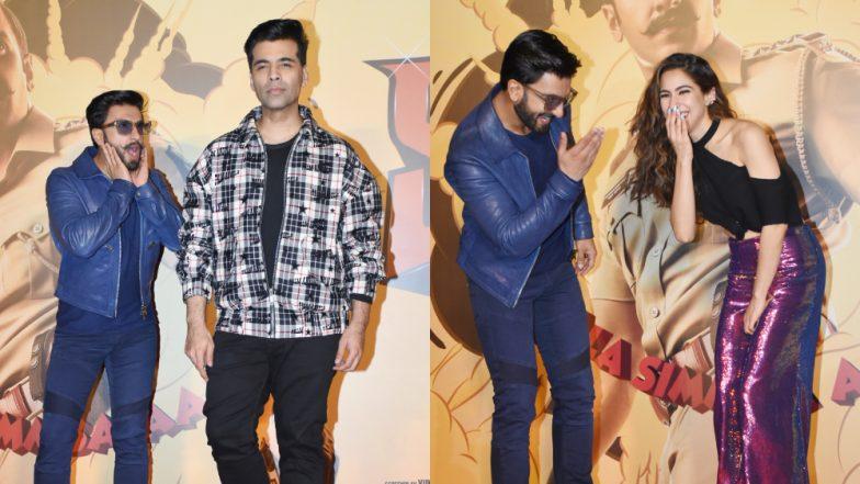 Simmba Trailer Launch: 5 Funny Moments Featuring Ranveer Singh, Karan Johar, Sara Ali Khan – Watch Videos