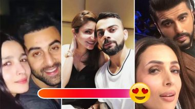 Malaika Arora-Arjun Kapoor, Alia Bhatt-Ranbir Kapoor, Anushka Sharma-Virat Kohli: B-Town Couples Who Took Over the Internet With Their PDA on Social Media in 2018