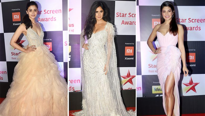 Star Screen Awards 2018 Best Dressed: Alia Bhatt, Katrina Kaif and Jacqueline Fernandez Look Drop Dread Gorgeous On the Red Carpet - View Pics