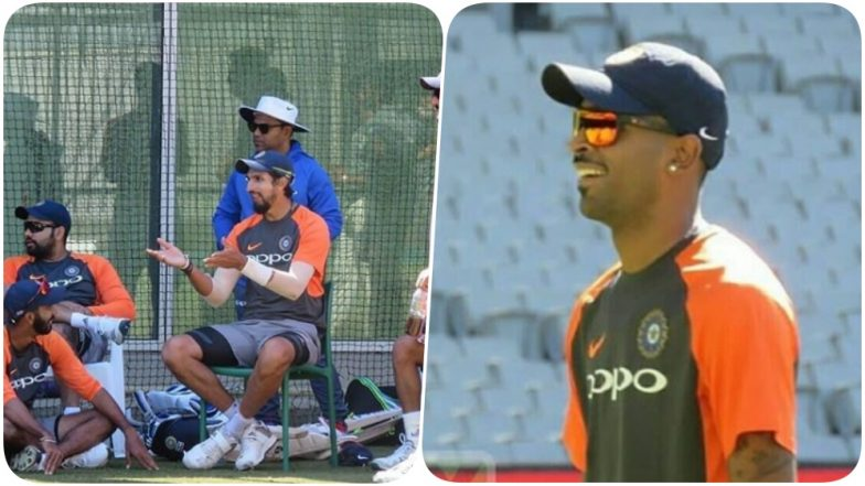 Hardik Pandya Bowls for the First Time After Injury, Check out the Pics of Team India Practice Session Ahead of 2018 Boxing Day Test