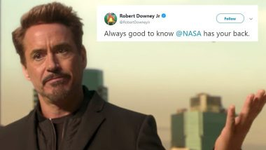 Avengers 4: Endgame: Robert Downey Jr Says 'Good To Know NASA has your back' After Space Agency Promises to Deploy Ground Teams To Search For Tony Stark