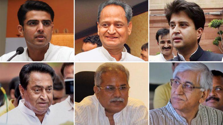 Rahul Gandhi on Meeting Spree to Decide on Rajasthan, Madhya Pradesh, Chhattisgarh CMs; Sachin Pilot, Ashok Gehlot, Jyotiraditya Scindia, Kamal Nath in Delhi