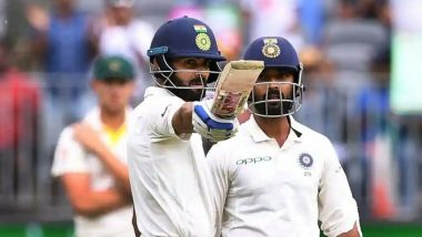 Virat Kohli Reached his 20th Half-Century with a Classic Shot During India vs Australia, 2nd Test Day 2! (Watch Video)