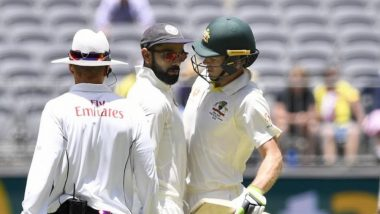Virat Kohli vs Tim Paine War Intensifies on the Day 4 of India vs Australia 2018, 2nd Test; Umpires Intervene (Watch Video)