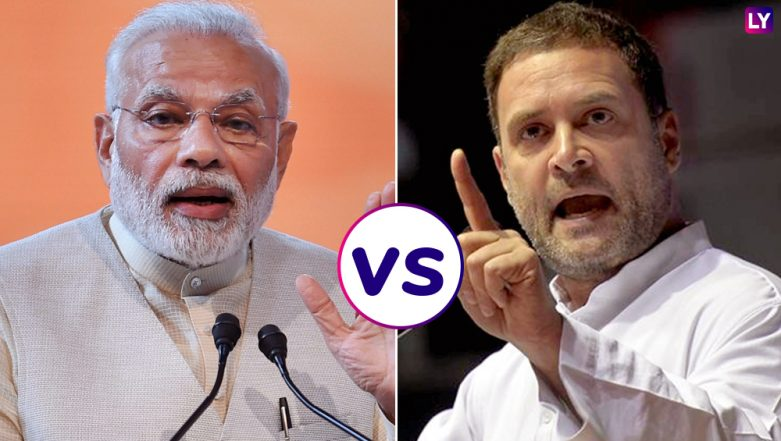 Rahul Gandhi vs PM Narendra Modi: Here's Who Addressed More Number of Rallies During Lok Sabha Elections 2019; Priyanka Scores High in Road Shows