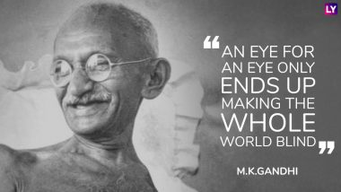 Gandhi Jayanti 2020 Quotes & HD Images: Mahatma Gandhi Sayings on Non-Violence to Celebrate Bapu's 151st Birth Anniversary on October 2