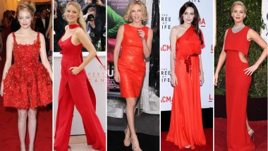 National Wear Red Day: Angelina Jolie, Charlize Theron and Jennifer Lawrence Look Stunning in This Colour of Love - View Pics