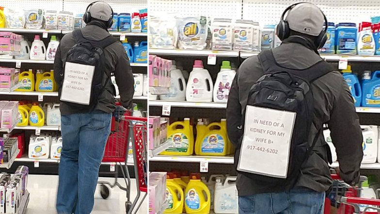 'In Need of a Kidney for My Wife' Husband's Note on Backpack Goes Viral