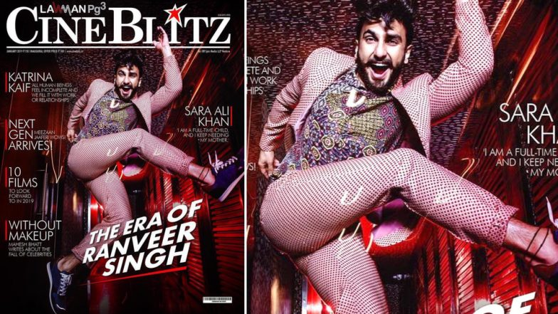 'Simmba' Ranveer Singh's Psychedelic Outfit on CineBlitz Magazine's January 2019 Cover is All Things Trippy for a Monday