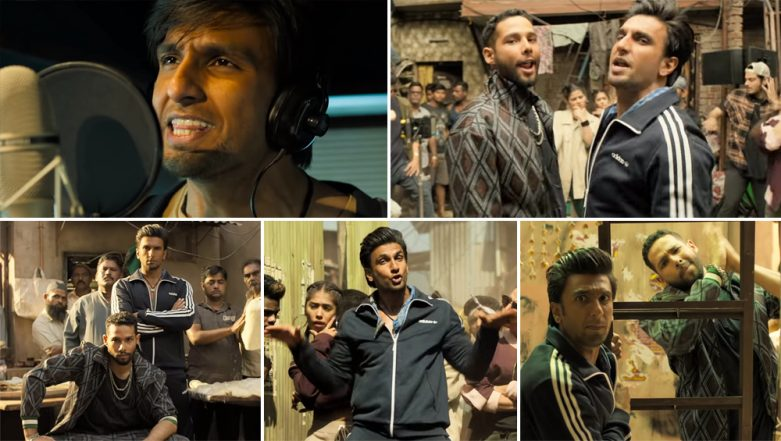Gully Boy Song Mere Gully Mein: Ranveer Singh and Rapper Naezy's Recreation of the EPIC Rap Number Is As Good As The Original One - Watch Video