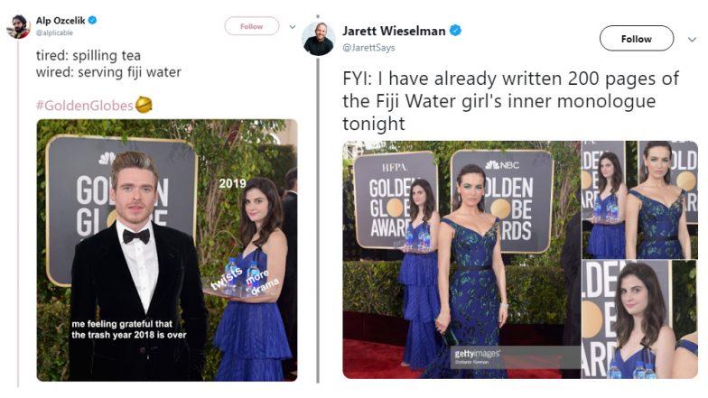 Golden Globes Photobomber AKA Fiji Water Girl Kelleth Cuthbert Inspires HILARIOUS Memes