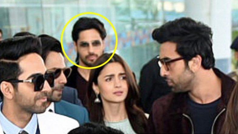 Alia Bhatt and Ranbir Kapoor Get 'Sticky Eyes' From Ex Boyfriend Sidharth Malhotra At The Airport! View Pics