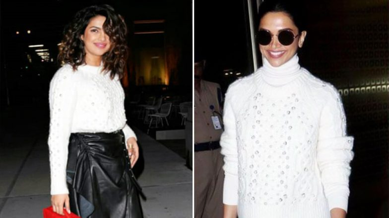 Deepika Padukone Picks The Same Rag & Bone Sweater as Priyanka Chopra and This Proves 'Great Minds Think Alike'