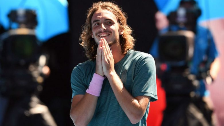 Stefanos Tsitsipas Becomes Youngest Player to Reach Grand Slam Semifinals Since 2007 at Australian Open 2019, Watch Video