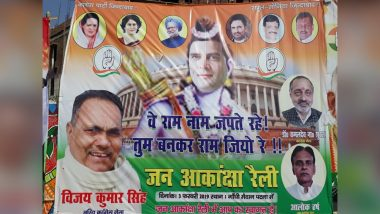 Rahul Gandhi is Lord Ram in Posters Put up By Congress Workers in Patna; See Pic