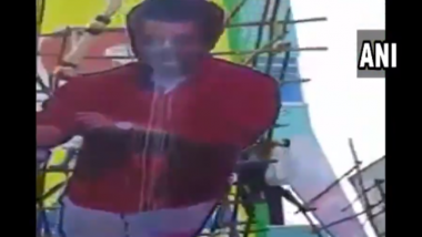 Viswasam Actor Ajith Kumar's Fans Injured As Massive Cutout of Thala Collapses During 'Paal Abhishekam'; Watch Video