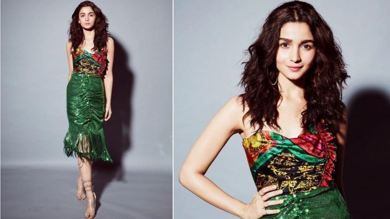 Alia Bhatt's Shimmery Green Skirt With Fringe By The Hem Gets Full Points On Our Style Meter!