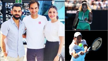 Virat Kohli and Anushka Sharma Meet Roger Federer, Watch Serena Williams and Novak Djokovic in Action at Australian Open 2019 (See Day 6 Pics)