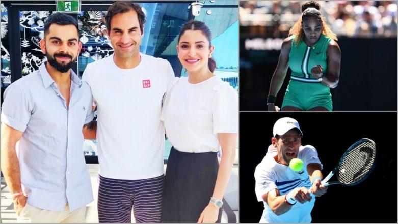 Virat Kohli and Anushka Sharma Meet Roger Federer, Watch Serena Williams and Novak Djokovic in Action at Australian Open 2019 (See Day 6 Pics)