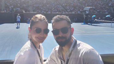 Anushka Sharma and Her 'Beautiful Sunny Boy' Virat Kohli Enjoy Sunny Day at Australian Open 2019 (See Pics)