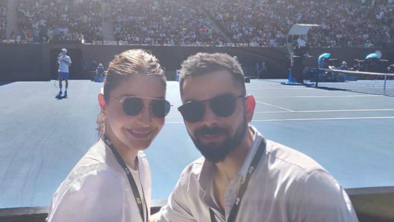 Anushka Sharma and Her 'Beautiful Sunny Boy' Virat Kohli Enjoy Sunny Day at Australian Open 2019 (See Pics)