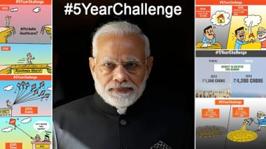 Amid #10YearChallenge, BJP Takes to #5YearChallenge on Twitter Ahead of Lok Sabha Elections 2019; Check Tweets