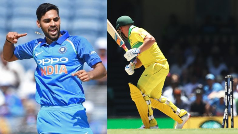 Bhuvneshwar Kumar Completes 100 Wickets in ODIs, Cleans Up Aaron Finch to Achieve the Feat; Watch Video Highlights of Ind vs Aus 1st ODI