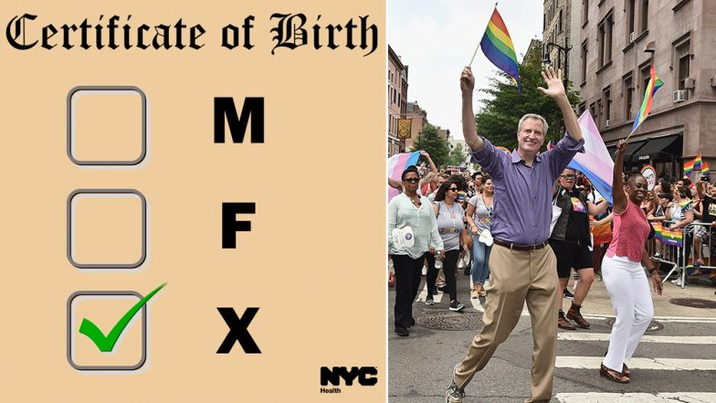New York City Lets Residents Now Select the Third Gender on Birth Certificates, Mayor Bill DeBlasio Calls It 'Example of Freedom'