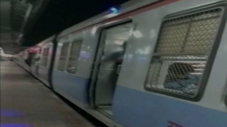 Blue Light Indicators Installed on Doors of Mumbai Local Trains to Alert Passengers About Departure