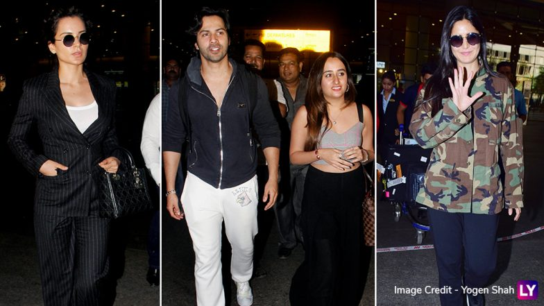 Celebrity Airport Style 2019: Sara Ali Khan, Varun Dhawan, Katrina Kaif and Other Celebs Slay the Casual Airport Look in Pics