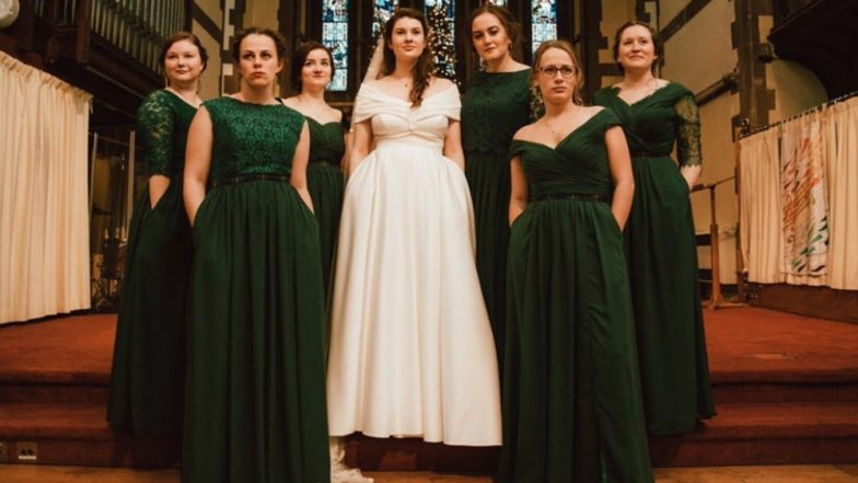 Cambridge Bride And Her Bridesmaids Adorn Dresses With Pockets, Photo Goes Viral